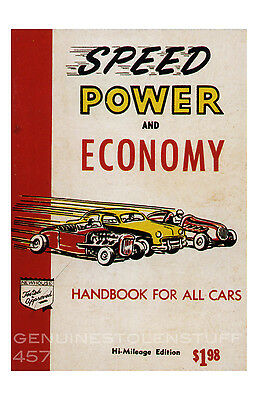 hot rod poster 11x17 new Speed Power and Economy for All Cars Cover Art Repro