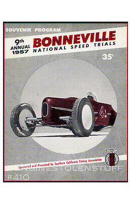 hot rod poster 11x17 Bonneville Speed Trials 9th annual program cover art repro