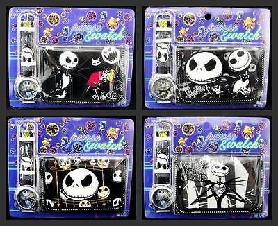 12 Pcs Nightmare Before Christmas Wristwatch watch and Purses Wallets Kids Gifts