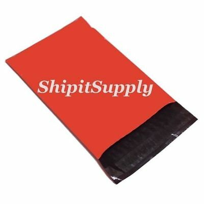 1-1000 12x15.5  ( Red ) Color Poly Mailers Boutique Fast Shipping