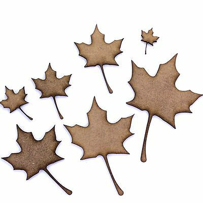 Sycamore Tree Leaf Craft Shapes, 2mm MDF Wood. Autumn Leaves. Various Sizes