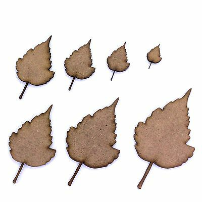 Various Sizes 2mm MDF Wood Leaves. Ivy Leaf Shape