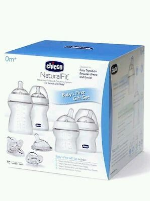 Chicco NaturalFit Baby's Bottles Adjustable Flow Nipples First Gift Set