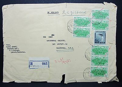 Pakistan Registered Cover Eulberg Colony R-Brief (I-5616+