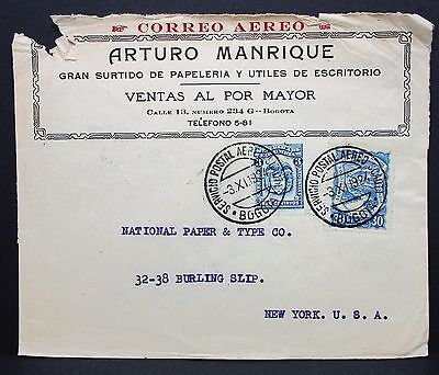 Colombia Cover to USA New York Brief (I-5697