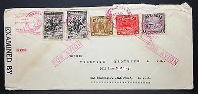 El Salvador Airmail Cover USA Luftpost Brief (I-5634+
