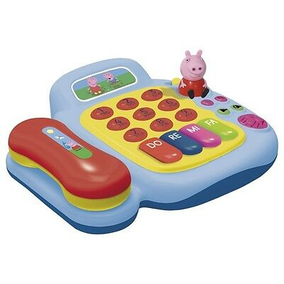 Reig Peppa Pig Activity Telephone and Piano with Figure. Shipping is Free