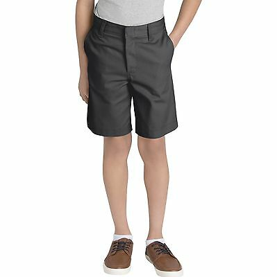 Dickies Boys Black Shorts Flat Front School Uniform Sizes 4 to 20