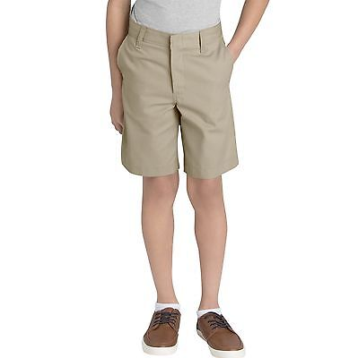 Dickies Boys Khaki Shorts Flat Front School Uniform Sizes 4 to 20
