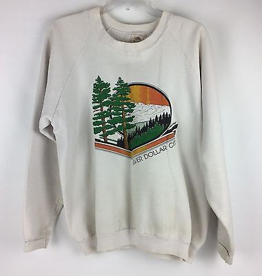 Vtg 80s Sweatshirt Size XL Silver Dollar City Fruit Of The Loom Made In USA