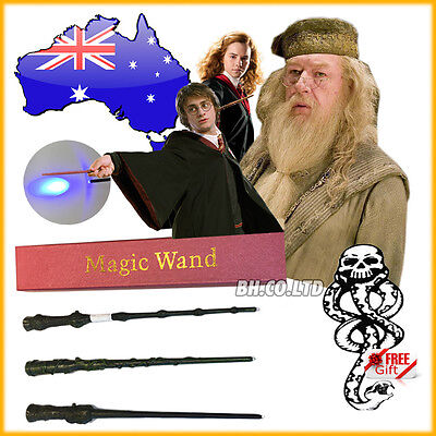 New Harry Potter Hermione Moody Ron Magic Wand Led Light Up Free Tattoo