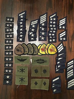 Lot of 65 Vintage US Military Patches - Estate Sale Find
