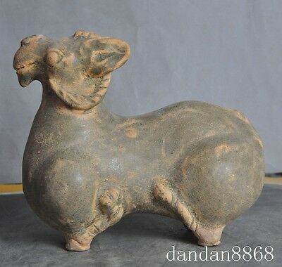 old chinese fengshui porcelain glaze animal zodiac sheep goat beast lucky statue