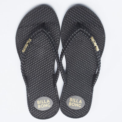 Billabong Kick Back Thongs in Black