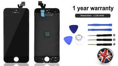 For iPhone 5 lcd Screen Replacement Digitizer Assembly Black Touch + Tools New