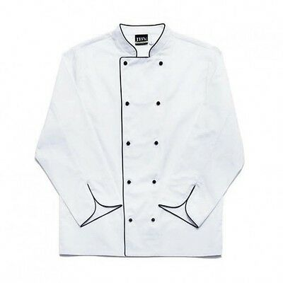 Great quality New Chef Jacket/ coat  Half Sleeve/Full Sleeve In black piping