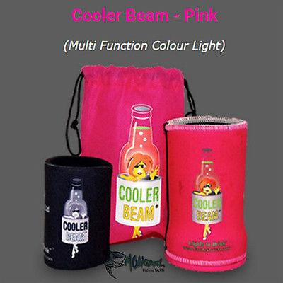 New 1 x Pink Cooler Beam Stubby Cooler Torch's - Party's Wedding Fishing Camping