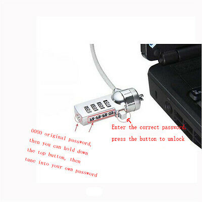 Password 4 Digit Security Computer Lock Anti-theft Chain For PC Laptop Safely