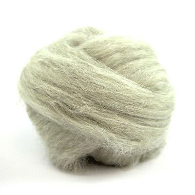 300g of Natural Light GREY SWALEDALE combed wool fibre top