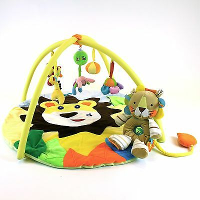 Baby Musical Lion & Cub Play Mat FREE Lion Cub Soft Toy Delux Mat Personalised