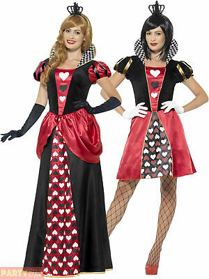 Ladies Queen of Hearts Costume Adult Fancy Dress Outfit World Book Week Day