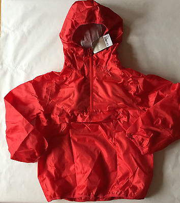 BNWT Next Girls Cagoule Red Bag Summer Lightweight Hooded Coat Jacket Cag School