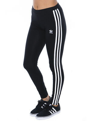 adidas Three Stripe Tights in Black