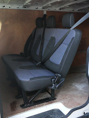 Genuine New OEM Rear Triple Bench Seat from Vauxhall Vivaro / Renault Trafic