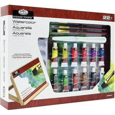 22 Piece Set Royal & Langnickel Watercolour Art Set With Easel Artist Pad Kit