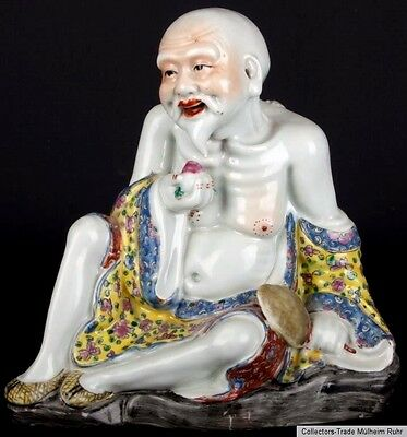 China 20. Jh. Figur - A Chinese Porcelain Figure of 'Shou Xing' - Cinese Chinois
