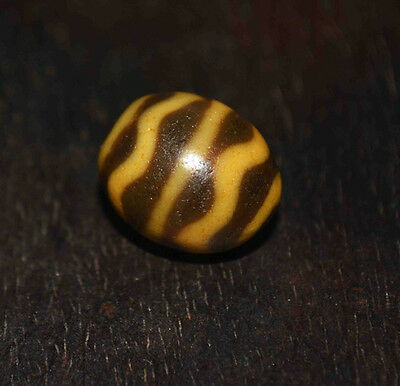 tibetan dzi bead necklace antique ancient tiger gzi zee tibet water stripe agate