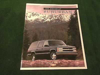 Mint 1998 Chevrolet Suburban Truck Dealer Sales Brochure  Original (Box 789)