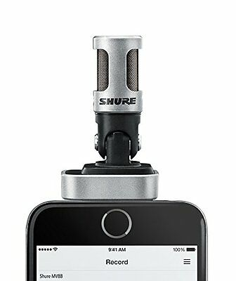 Shure MV88 Digital Stereo Microphone for iPhone iPad and iPod with MOTIV App