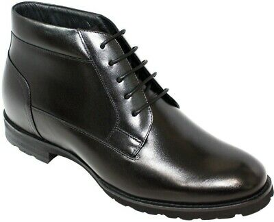 1800694bc49 TOTO H1802- 2.8 Inches Elevator Height Increase Dress Ankle Boots Shoes  Lace Up
