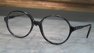 Marcolin Black Marble Color/Round Prescription Replacement Glasses *LIQUIDATION*