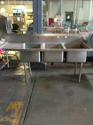 3 Compartment Sink $483