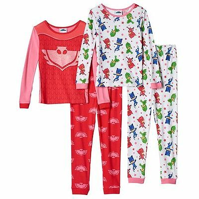 Girls Pj Masks Pajamas Two Piece Long Sleeve Winter Pajama Set Girl's Size 4 6
