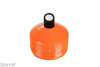 Trademark Innovations Plastic Disc Cone Sports Training Gear with Carrier
