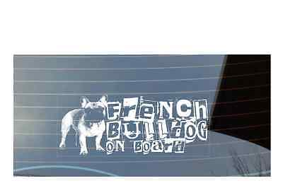 French Bulldog On Board, Car Sticker,High Detail, Great Gift For Dog Lover
