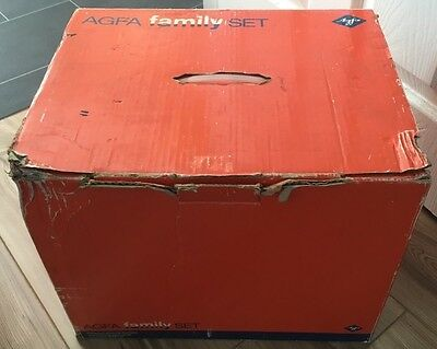 Vintage Agfa Family 8mm Movie Camera & Projector, Original Box & Instructions