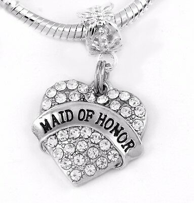 SC5270 4 Big Brother Charms Antique Silver Tone 2 Sided Rhinestone Heart
