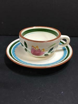 Stangl County Garden Cup And Saucer