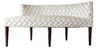 Mid Century Modern Curved Chaise Settee Attributed to Peabody or Dunbar