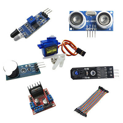 6in1 Set Kit Sensor Module+Cable Part Repair For Raspberry Pi Arduino Small Car