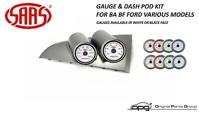 Saas Gauge Dash Pod Volts & Oil Pressure Gauges - Ba Bf Falcon Xr6 Xr8 Gt F6 Gt