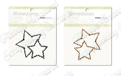 Kaisercraft Self Adhesive Rhinestone Pictures ~ 2 Stars ~ 2 Colours Available