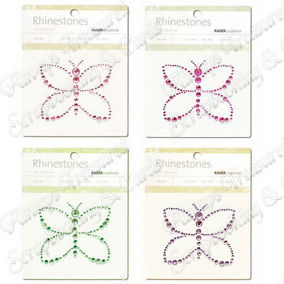 Kaisercraft Self Adhesive Rhinestone Pictures ~ Butterfly ~ 4 Colours Available