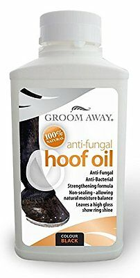 Groom Away Anti-Fungal Horse Hoof Oil Black or Natural 500ml for all year round
