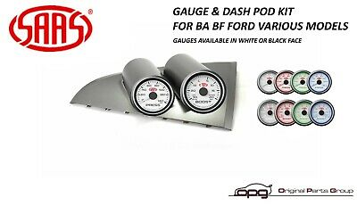 Saas Gauge Dash Pod & Boost & Oil Pressure Gauges - Ba Bf Falcon Xr6 Turbo F6