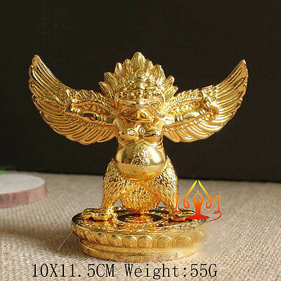 Buddha Tibet Tibetan  Buddhist Copper Gild Garuda Dhwaja Bird For Car Statue